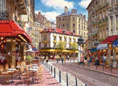Jigsaw puzzle Quaint shops (Ravensburger) cover image