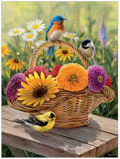 Jigsaw puzzle Summer bouquet (Cobble Hill) cover image