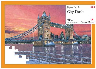 Jigsaw puzzle City dusk (Active Minds) cover image