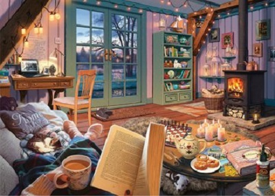Jigsaw puzzle Cozy retreat (Ravensburger) cover image