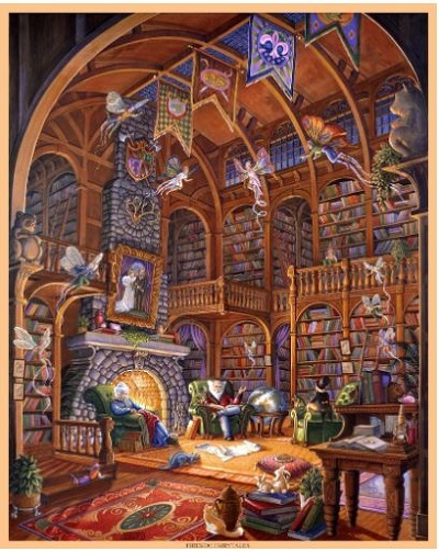 Jigsaw puzzle Fireside fairytales (Artifact) cover image