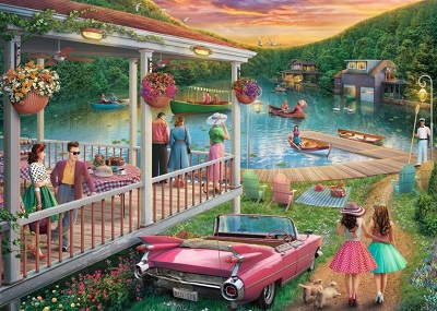Jigsaw Puzzle Summer at the lake (Ravensburger) cover image