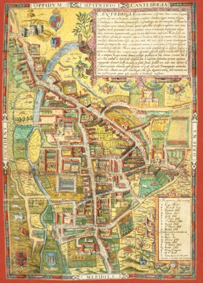 Jigsaw puzzle Street Map of Cambridge, 1574 (Pomegranate) cover image