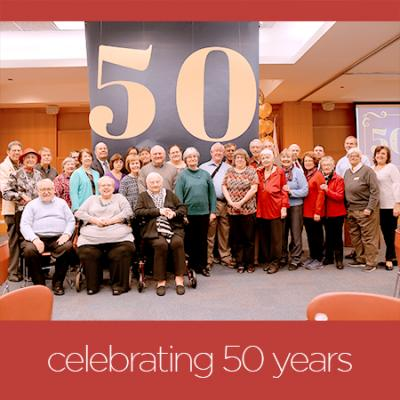 celebrating 50 years - phto of friends group
