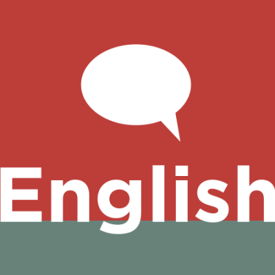 English graphic with speech bubble