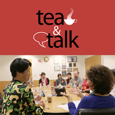tea and talk - picture of people talking at at meeting