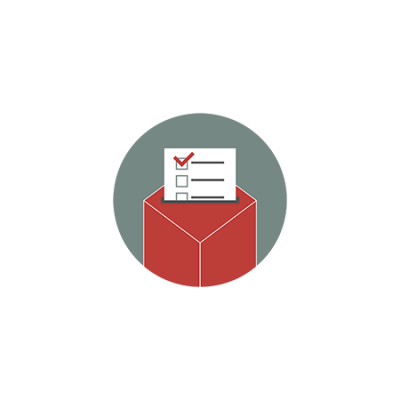 Graphic of ballot box