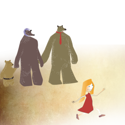 illustration of goldilocks and the three bears