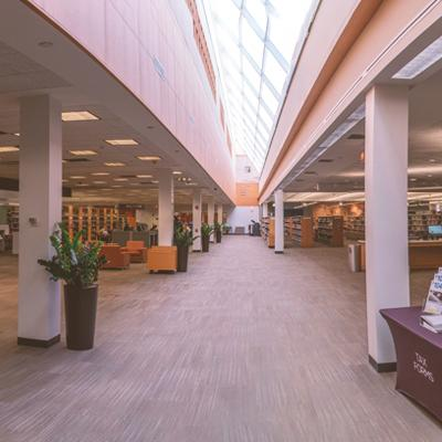 photo of library expanse
