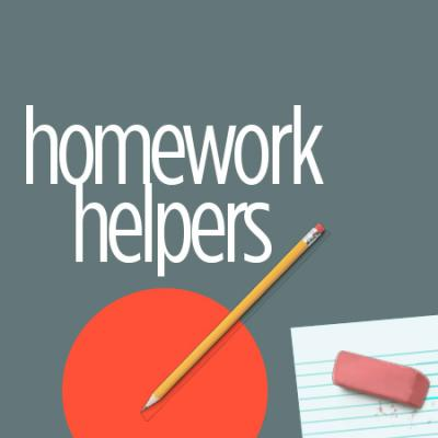Homework Helper logo with pencil and eraser