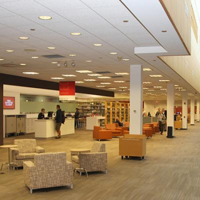 library tech center and study area