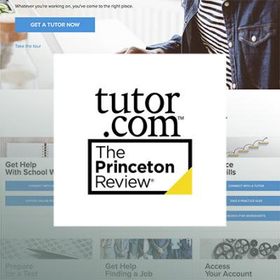 logo of tutor.com with image of tutoe.com web site