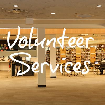 photo of library w volunteer heading