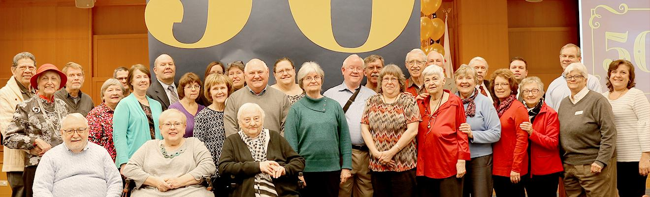 Photo of Friends at their 50th year anniversary party