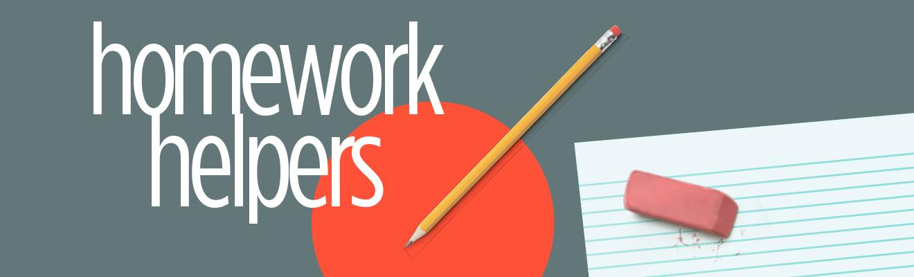 Logo of Homework Helper program with pencil and eraser